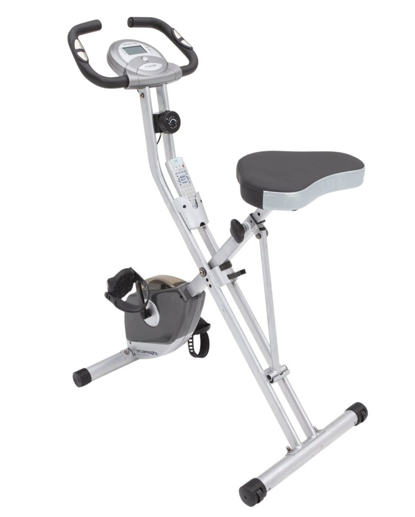 exerpeutic folding magnetic upright bike2